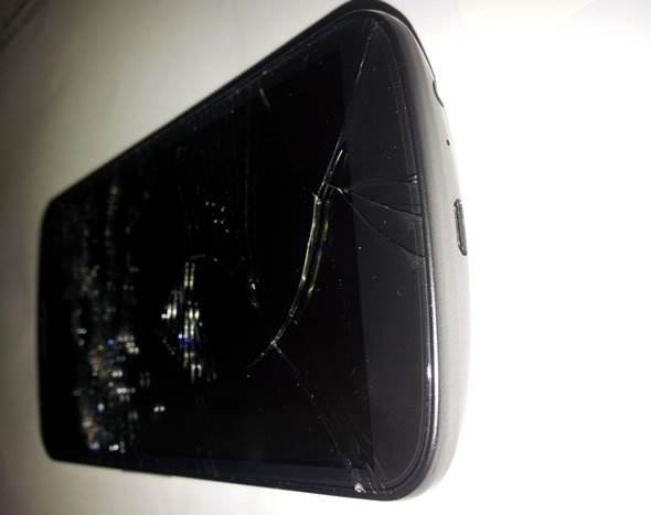 Galaxy Nexus shattered glass screen
