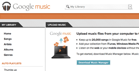 Google Music download Music Manager