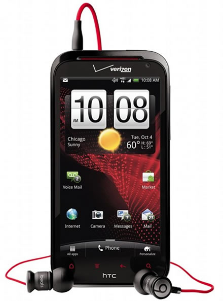 HTC Rezound 4.3-inch 720p HD screen Android smartphone with Beats by Dr. Dre