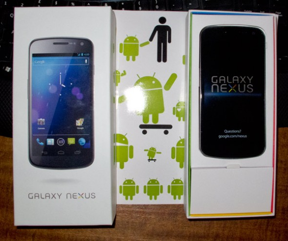 Samsung Galaxy Nexus in box on UK launch