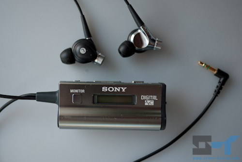Sony active noise-cancelling earphones with control unit
