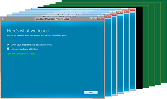 Windows 8 upgrade achieved with 11 dialogue boxes