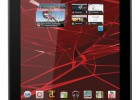 Motorola XOOM 2 Media Edition 8.2-inch Android tablet - Home screen, side