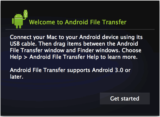 Android File Transfer on Mac OS