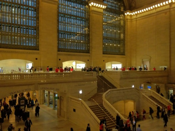 Grand Central Terminal Apple Store view over the east balcony