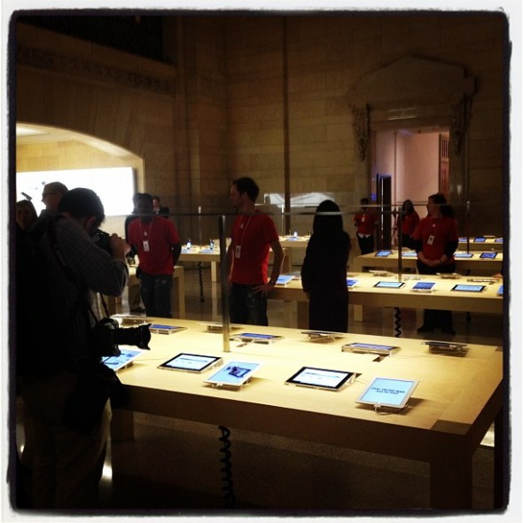 Grand Central Terminal Apple Store room interior on media day