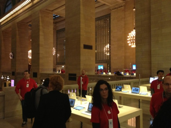 Grand Central Terminal Apple Store interior on media day