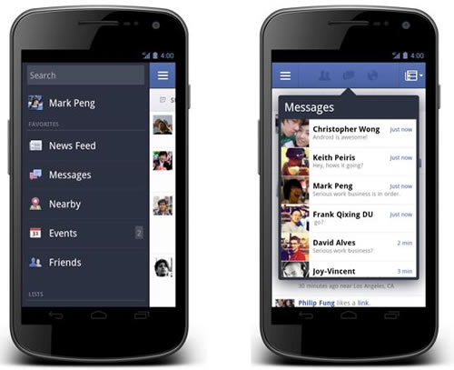 Facebook for Android version 1.8