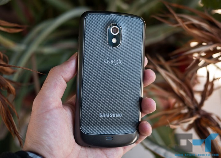 Samsung Galaxy Nexus in hand back