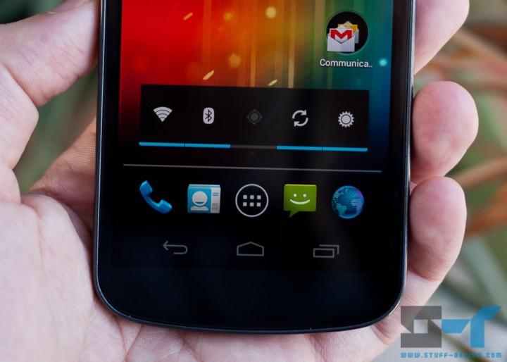 Samsung Galaxy Nexus bottom screen close-up