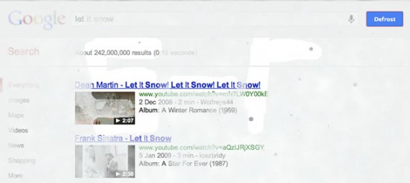 Google Search 'let it snow'