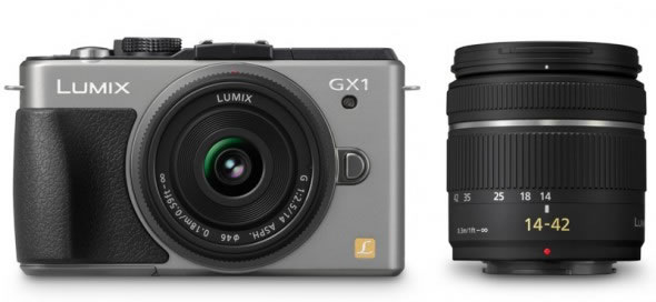 Panasonic Lumix GX1 with standard 14-42mm zoom lens