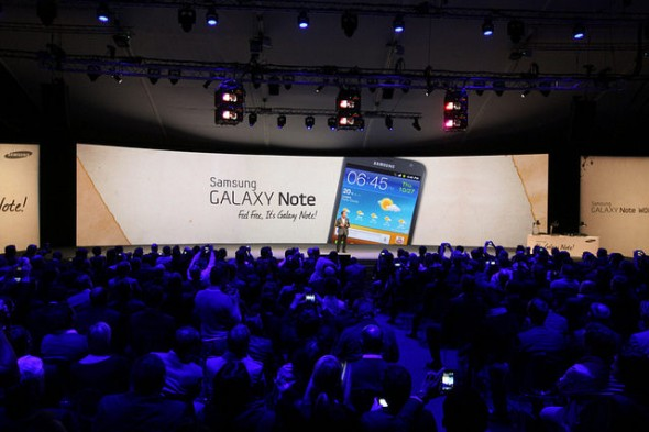Samsung Galaxy Note event