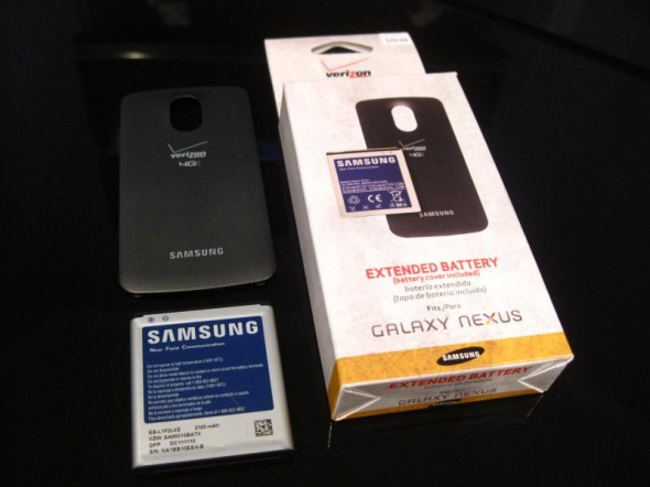Verizon Galaxy Nexus 2,100mAh extended battery and cover