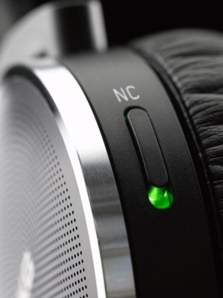AKG K490 NC active noise cancelling headphones ANC switch close-up