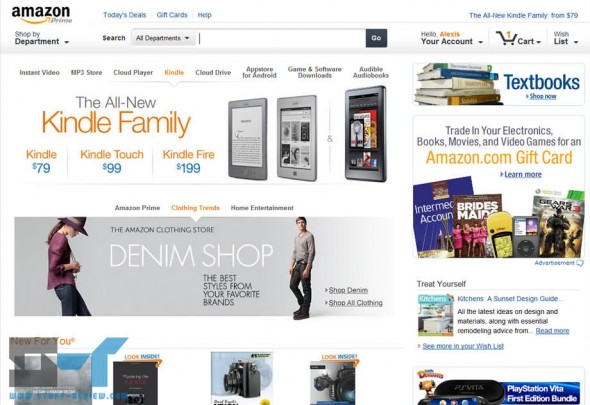 Amazon website redesign