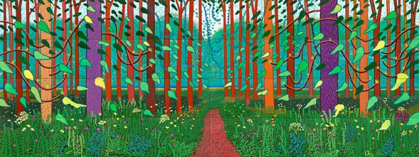 The Arrival of Spring in Woldgate, East Yorkshire, 2011 by David Hockney