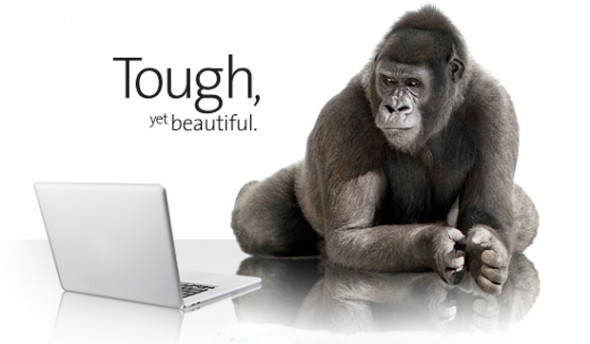 Corning Gorilla Glass - gorilla with a laptop