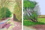 The Arrival of Spring in Woldgate, East Yorkshire, in 2011. iPad drawing printed on paper by David Hockney