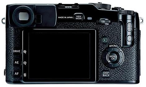 Fujifilm X-Pro1 back 3-inch RGBW LCD