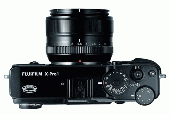 Fujifilm X-Pro 1 mirrorless interchangeable lens camera top