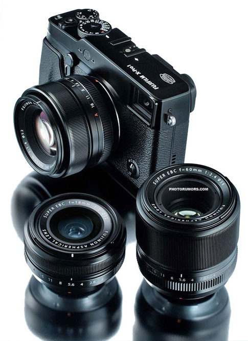 Fujifilm X-Pro 1 camera with prime lenses