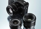 Fujifilm X-Pro1 camera with first three prime lenses
