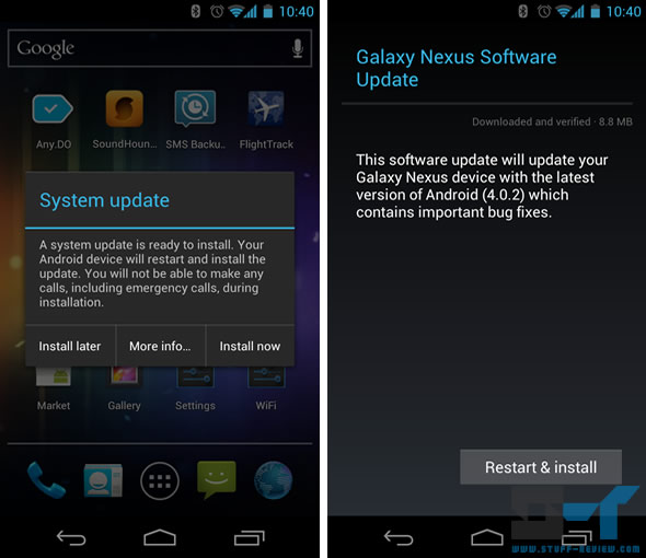 Galaxy Nexus Android 4.0.2 update