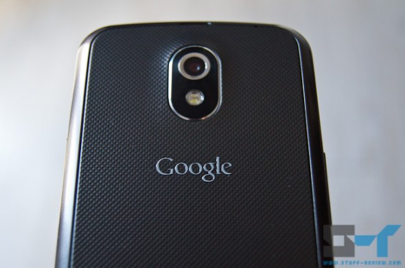 Galaxy Nexus back - close-up on Google logo