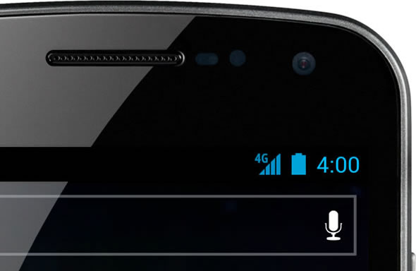 Samsung Galaxy Nexus Android 4.0 battery indicator close-up
