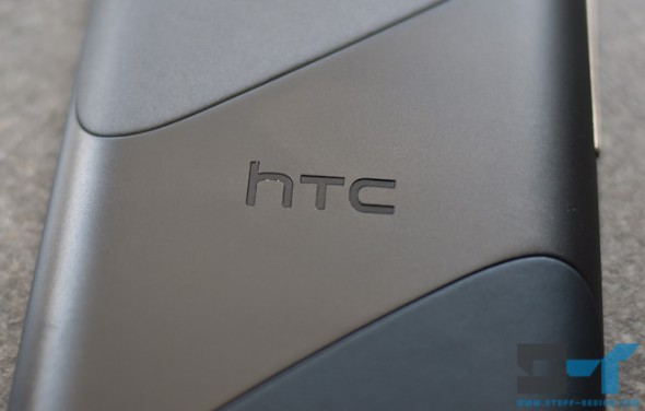 HTC logo close-up on the HTC Sensation