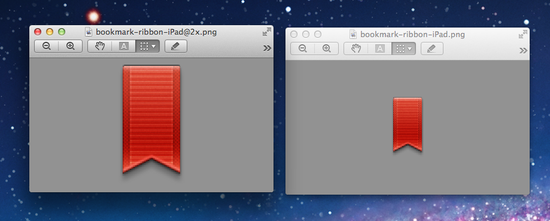 Bookmark icon from iBooks 2
