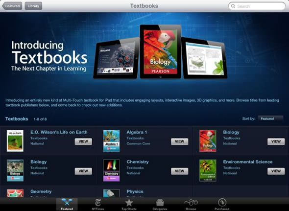iBooks 2 Textbooks on iPad