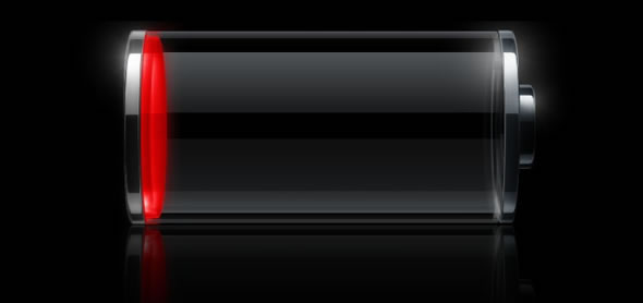 iOS low battery level