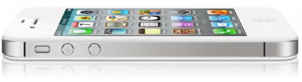 Apple iPhone 4S white - left side
