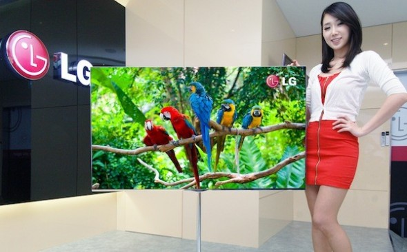 LG 55-inch OLED TV with 4 color pixel technology - front