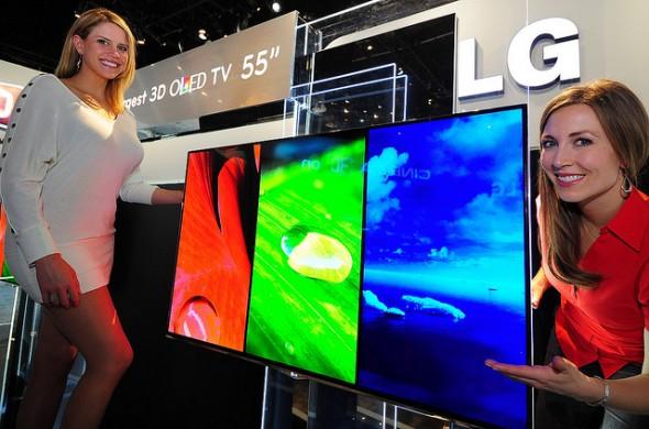 LG 55-inch OLED 3D TV