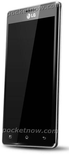 LG X3 smartphone render