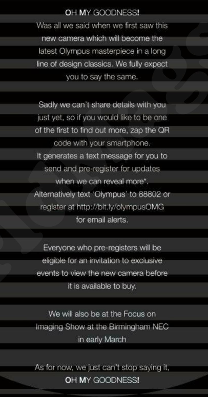 Olympus OM-D teaser ad in Amateur Photographer