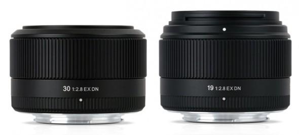 Sigma Digital Neo 30mm F2.8 EX DN and 19mm F2.8 EX DN lenses