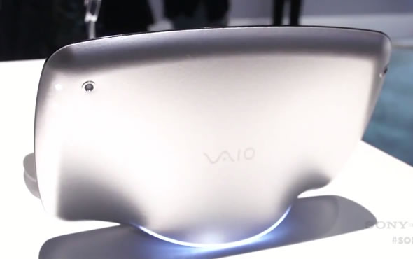Sony VAIO Slate concept with morphing soft back