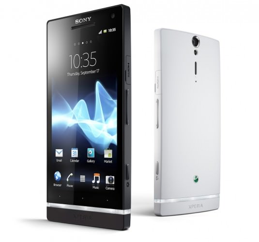 Sony Xperia S 4.3-inch Android smartphone - black and white