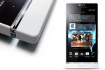 Sony Xperia S - transparent strip close-up