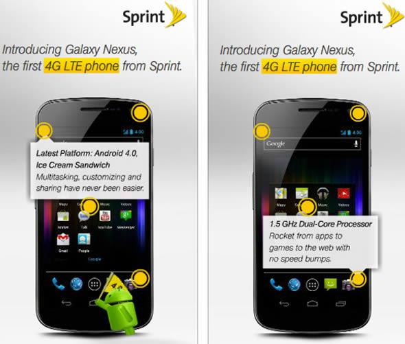 Sprint 4G LTE Samsung Galaxy Nexus ad