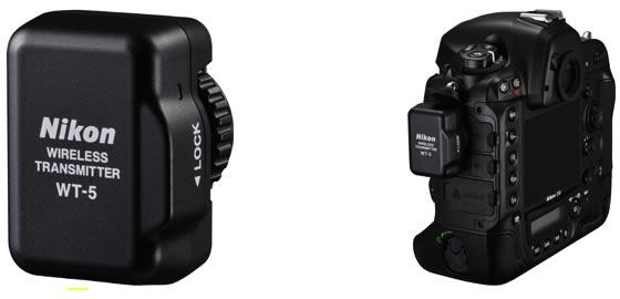 WT-5 attached to Nikon D4 full-frame DSLR