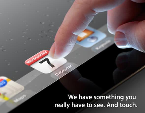 Apple iPad 3 event invitation