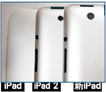 Leaked iPad 3 image back comparison with iPad 2 and original iPad