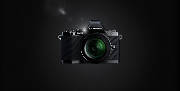 Olympus E-M5 Micro Four Thirds digital camera front