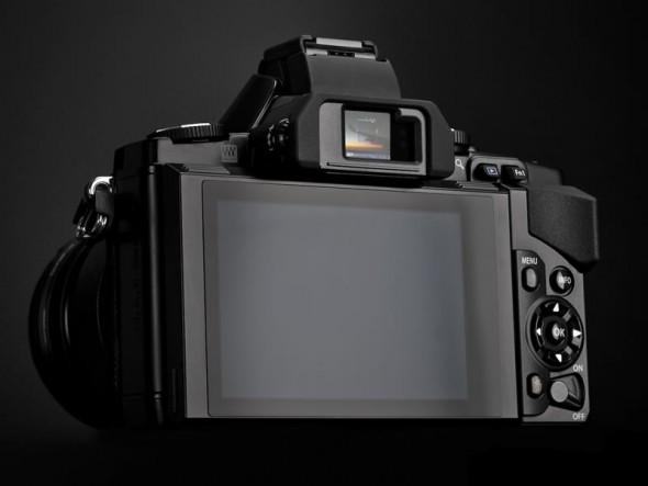 Olympus OM-D E-M5 back black