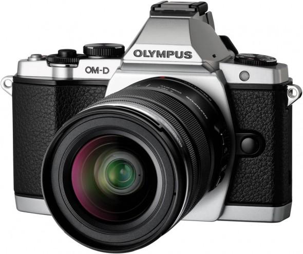 Olympus OM-D E-M5 MFT digital camera - silver - front side